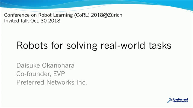 Robots for solving real-world tasks | ETH Zürich Videoportal