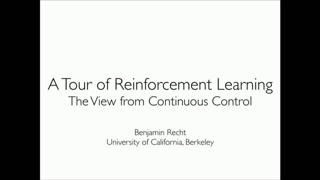 Optimization Perspectives on Learning to Control | ETH